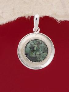 Сребърен медальон PKWS27 - Африкански тюркоаз