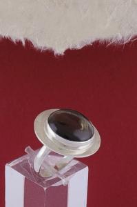 Сребърен пръстен RKWS27A - Опушен кварц