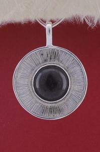 Сребърен медальон PKWS27B - Оникс
