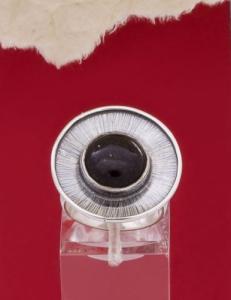 Сребърен пръстен RKWS27B - Оникс