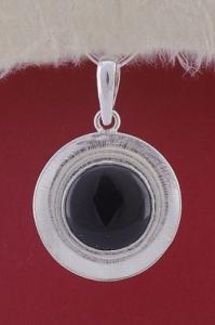 Сребърен медальон PKWS27 - Оникс