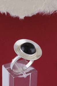 Сребърен пръстен RKWS27 - Оникс