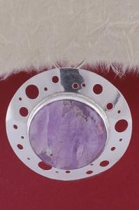 Сребърен медальон PKWS28 - Аметист