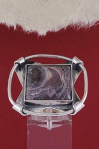 Сребърен пръстен RKWS30 - Мокаит