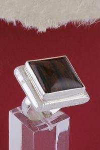 Сребърен пръстен RKWS31 - Махагонов обсидиан