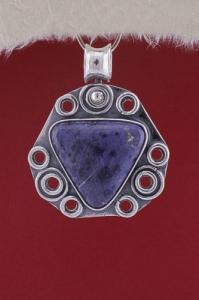 Сребърен медальон PKWS32 - Дюмортиерит