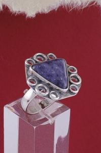 Сребърен пръстен RKWS32 - Дюмортиерит