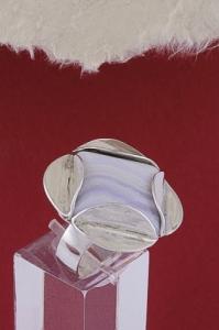 Сребърен пръстен RKWS35 - Ивичест ахат