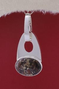 Сребърен медальон PKWS36 - Пейзажен яспис
