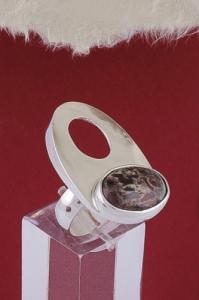 Сребърен пръстен RKWS36 - Пейзажен яспис
