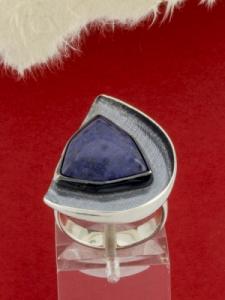 Сребърен пръстен RKWS37 - Син кварц