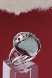 Сребърен пръстен RKWS40 - Амазонит