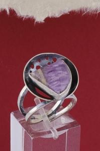 Сребърен пръстен RKWS40 - Аметист