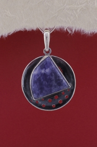 Сребърен медальон PKWS40 - Дюмортиерит