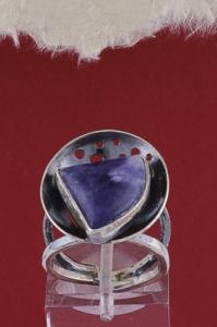 Сребърен пръстен RKWS40 - Дюмортиерит