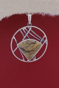 Сребърен медальон PKWS41 - Ландшафт яспис