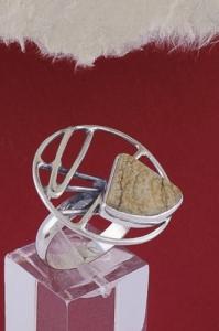 Сребърен пръстен RKWS41 - Ландшафт яспис