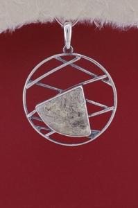 Сребърен медальон PKWS41 - Вогесит