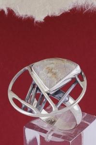 Сребърен пръстен RKWS41 - Вогесит