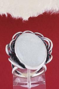 Сребърен пръстен RKWS42 - Бял авантюрин