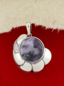 Сребърен медальон PKWS44 - Мъхов ахат