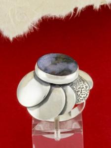 Сребърен пръстен RKWS44 - Мъхов ахат