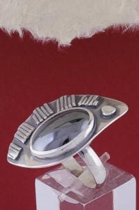 Сребърен пръстен RKWS43 - Хематит