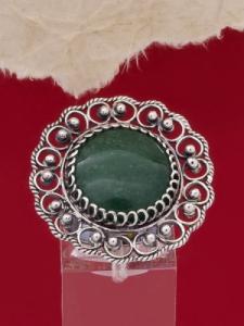 Сребърен пръстен STR114 - Тъмнозелен авантюрин