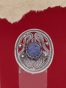 Сребърен пръстен филигран FR4-СИН КВАРЦ