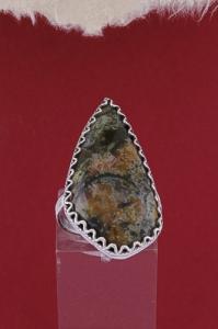 Сребърен пръстен филигран  FR8 - Пейзажен яспис