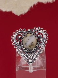Сребърен пръстен филигран FR2-Дендрит Ахат