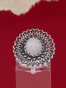 Сребърен пръстен филигран FRK3 - Млечен Кварц