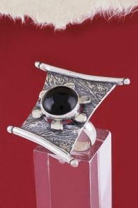 Сребърен пръстен RKWS50 - Оникс