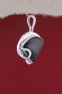 Сребърен медальон PK178 - Оникс