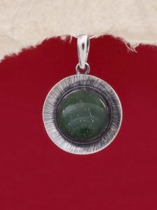 Сребърен медальон PKWS27 - Авантюрин