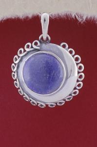 Сребърен медальон PKWS45 - Син кварц