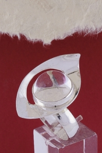 Сребърен пръстен RKWS46 - Планински кристал