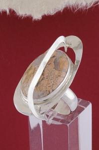 Сребърен пръстен RKWS48 - Брекча яспис