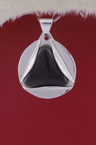 Сребърен медальон PKWS49 - Оникс