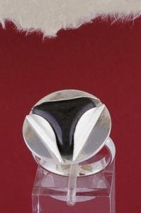 Сребърен пръстен RKWS49 - Оникс