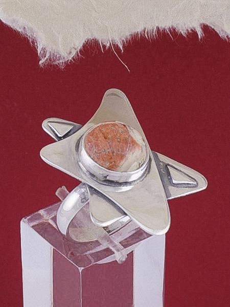 Сребърен пръстен RKWS7 - Брекча яспис