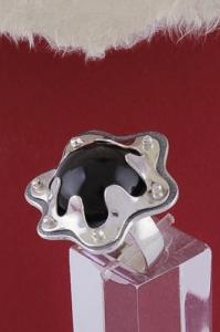 Сребърен пръстен RKWS52 - Обсидиан