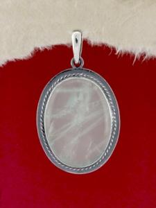 Сребърен медальон PKWS53 - Розов кварц
