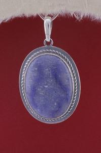 Сребърен медальон PKWS53 - Син кварц