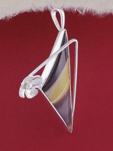 Сребърен медальон PKWS54 - Мокаит