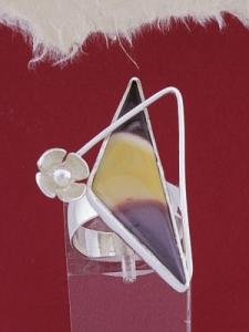 Сребърен пръстен RKWS54 - Мокаит
