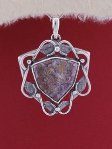 Сребърен медальон P169 - Дендрит Ахат