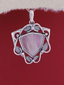 Сребърен медальон P169 - Лунен ахат