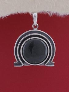 Сребърен медальон PK73 - Оникс