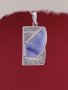 Сребърен медальон PK156 - Син кварц